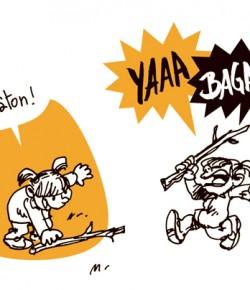 Strip numéro 42, débattant du juste équilibre des conditionnements sociaux